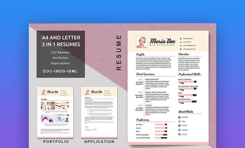 30 Best Visual Cv Resume Templates For Artists Creatives In 2020