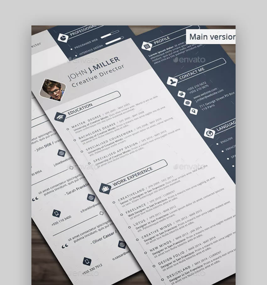 The Resume - Beautiful Resume Template