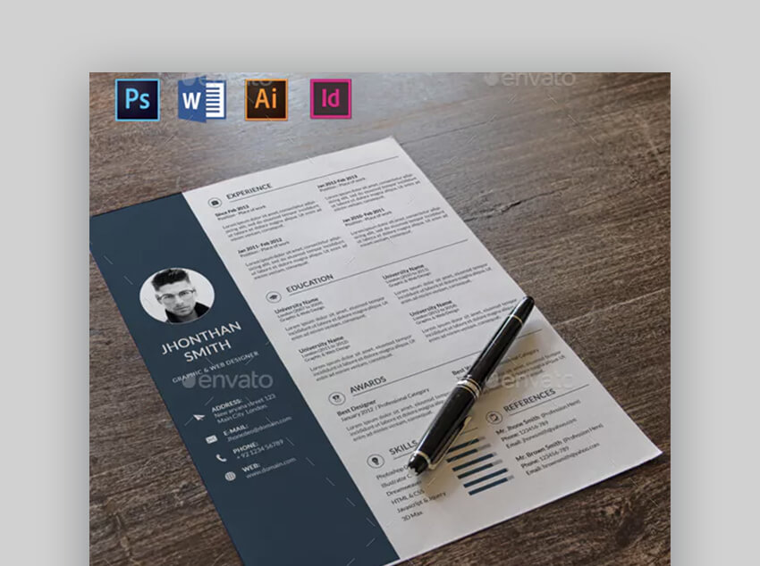 Resume - Awesome Resume Template with Cover Letter