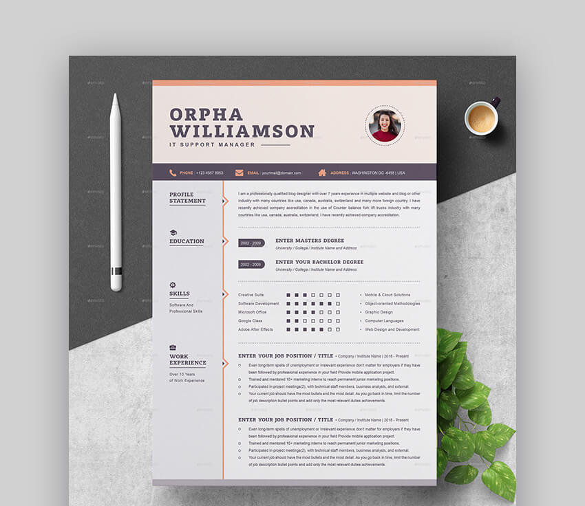 20 Awesome Resume Templates (With Beautiful Layout Designs)