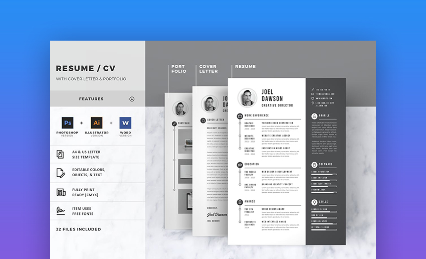 Resume - Clean and Beautiful Resume Design