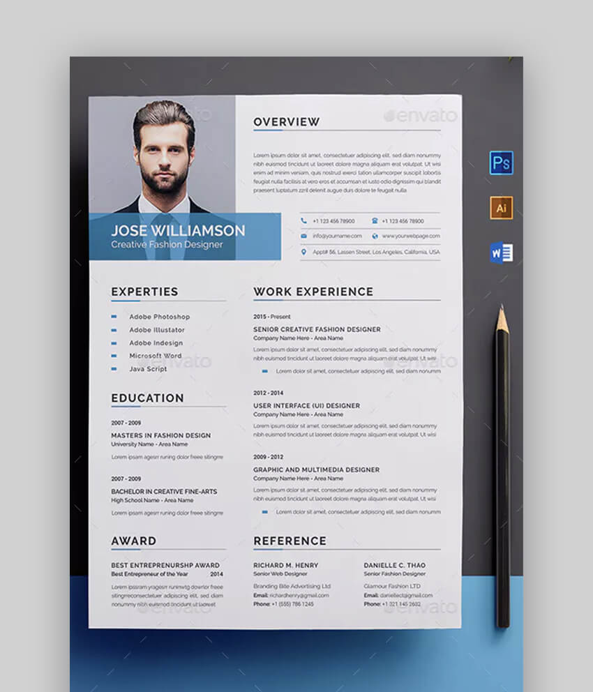 Clean and Professional Resume - Beautiful Resume Template