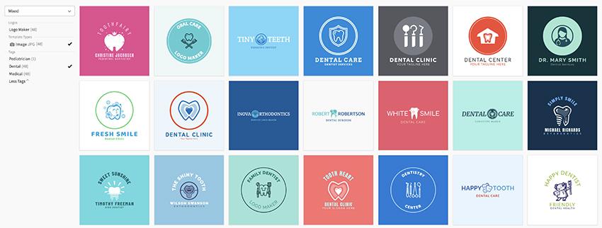 Dental logo templates on Placeit