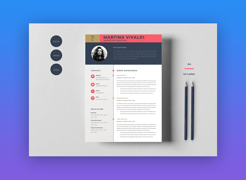 This Cool Resume Template Will Cut Straight To The Chase With A Bold Introductory Section Not Only Does It Have Space Put Face Name In