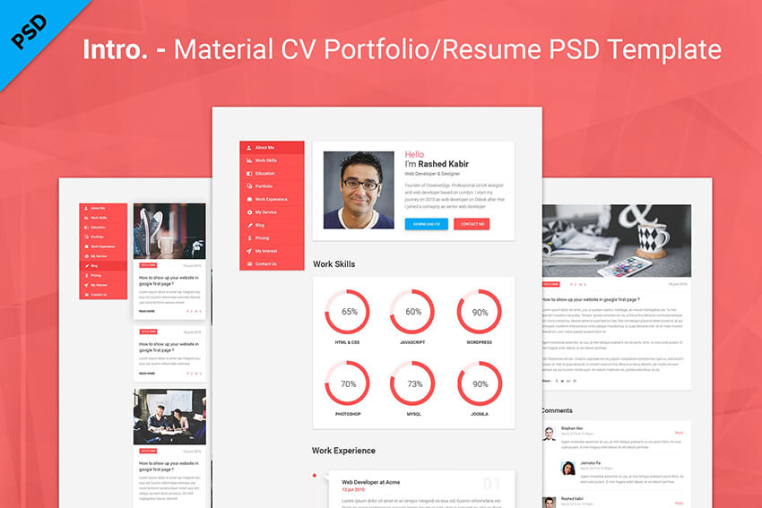 Material and Modern Resume Color Palette
