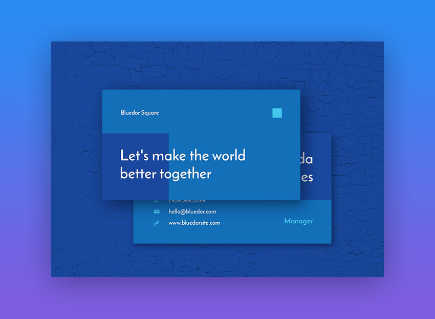 Bluedor Business Card Template