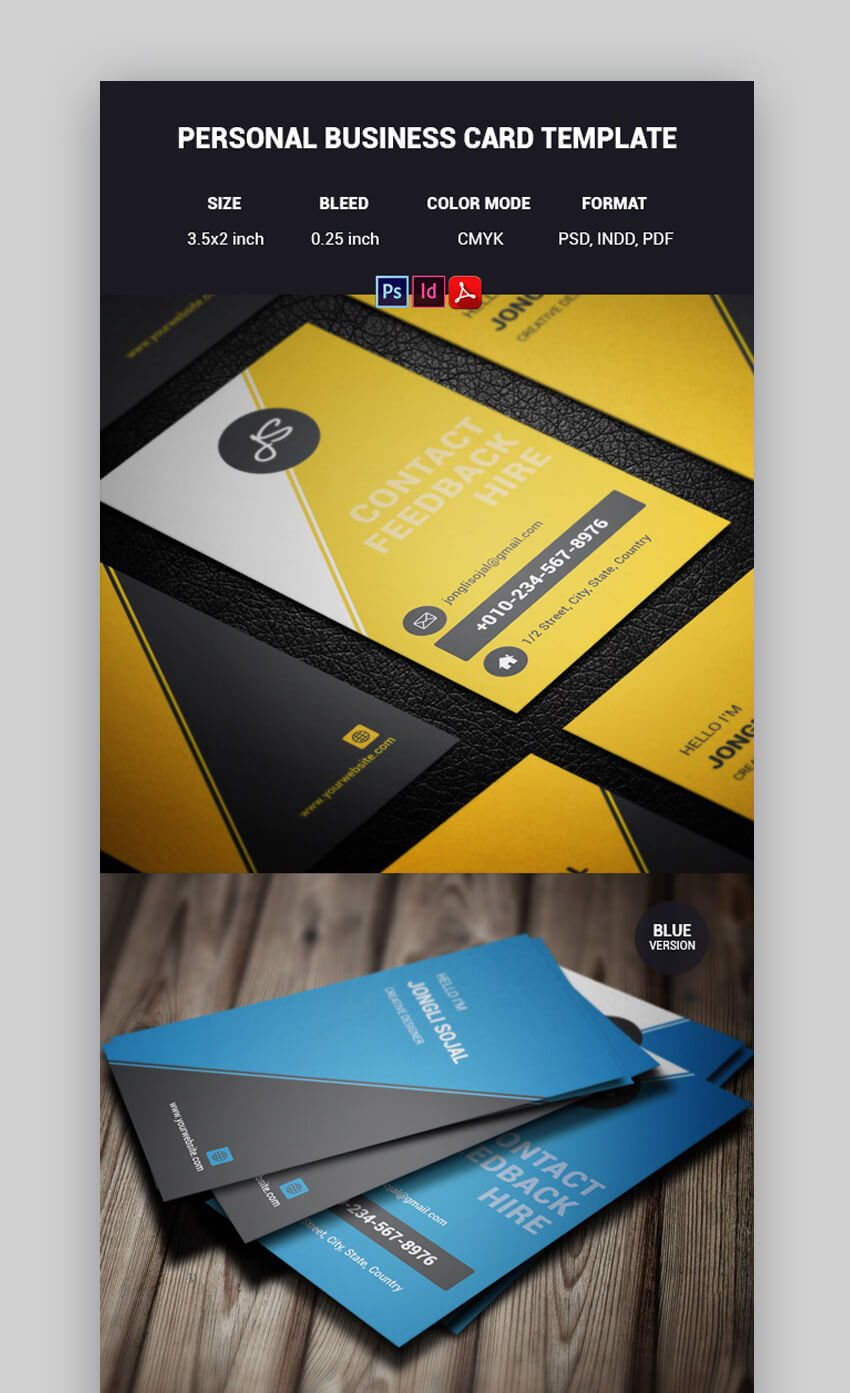 24 Premium Business Card Templates In Photoshop