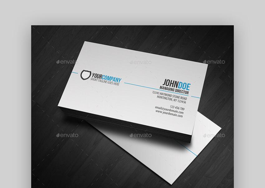Simple Professional Premium Business Card Templates
