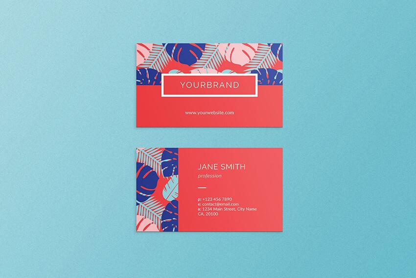 Summer Business Card