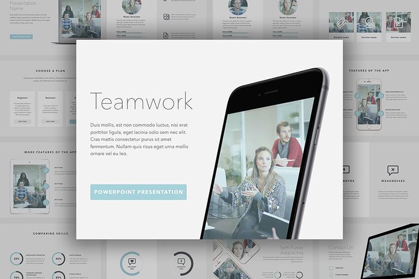 Teamwork webinar PowerPoint template