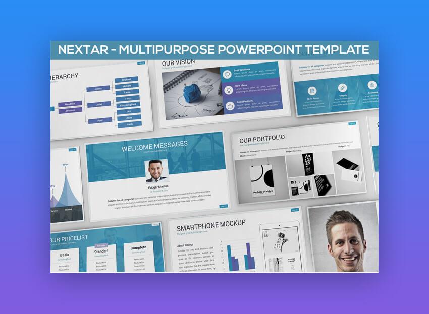 Nextar - Multipurpose PowerPoint Presentation Design Template