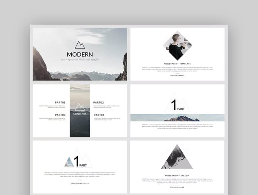 20 free modern powerpoint ppt templates with minimalist