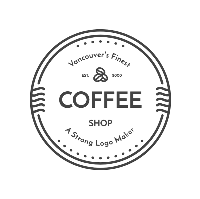 Coffee Shop Logo Design Template with Minimalist Style