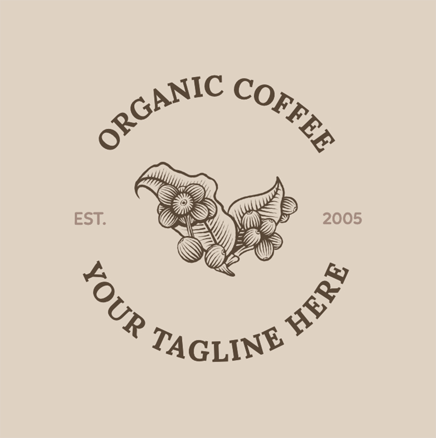 Cool Coffee Shop Logo Maker with Coffee Grains