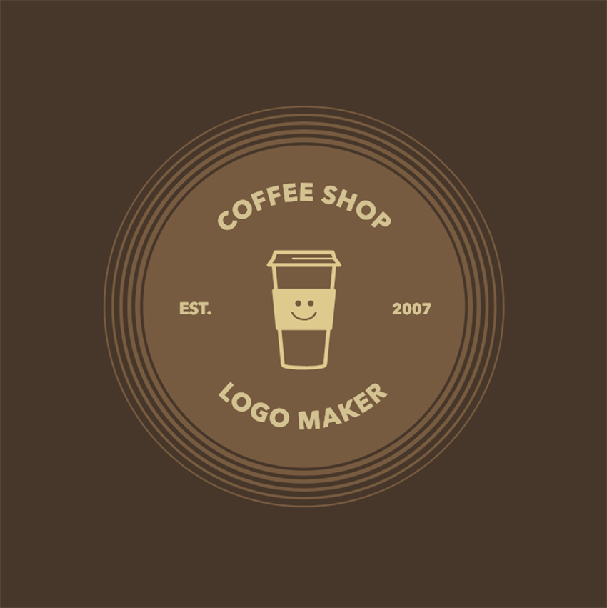 Coffee Shop Logo Maker with Coffee Grains