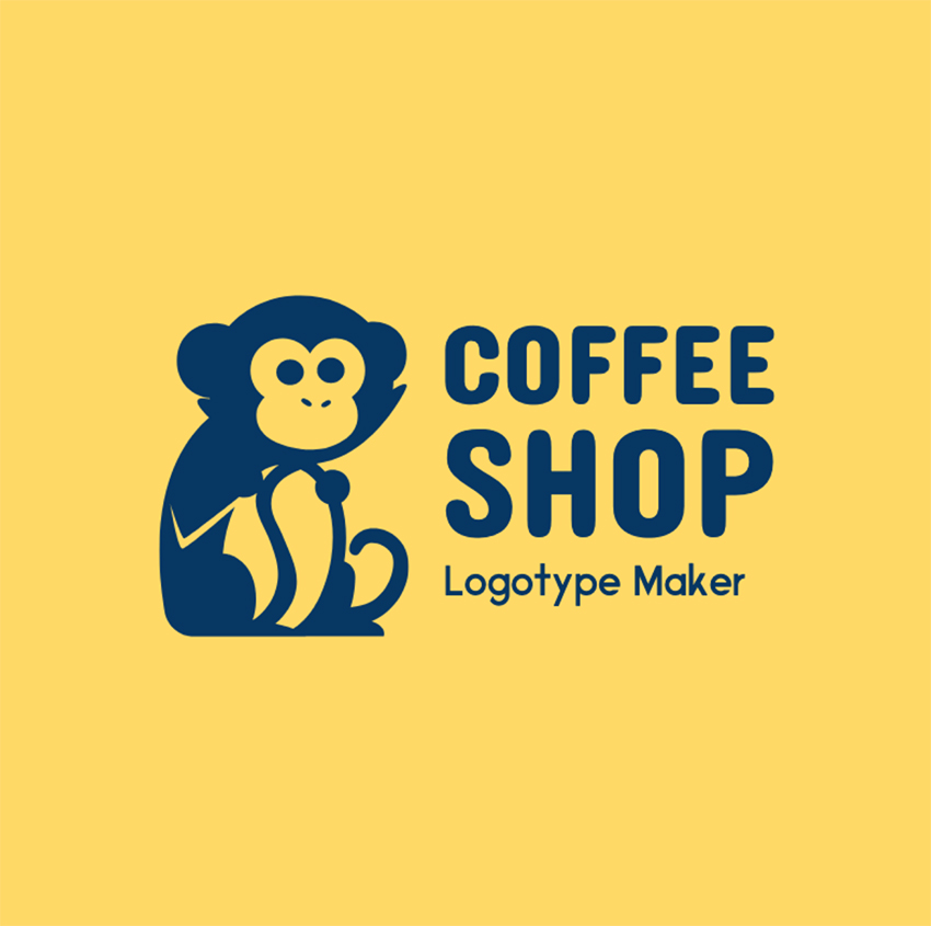 Coffee Shop Logo Maker with Funny Graphics