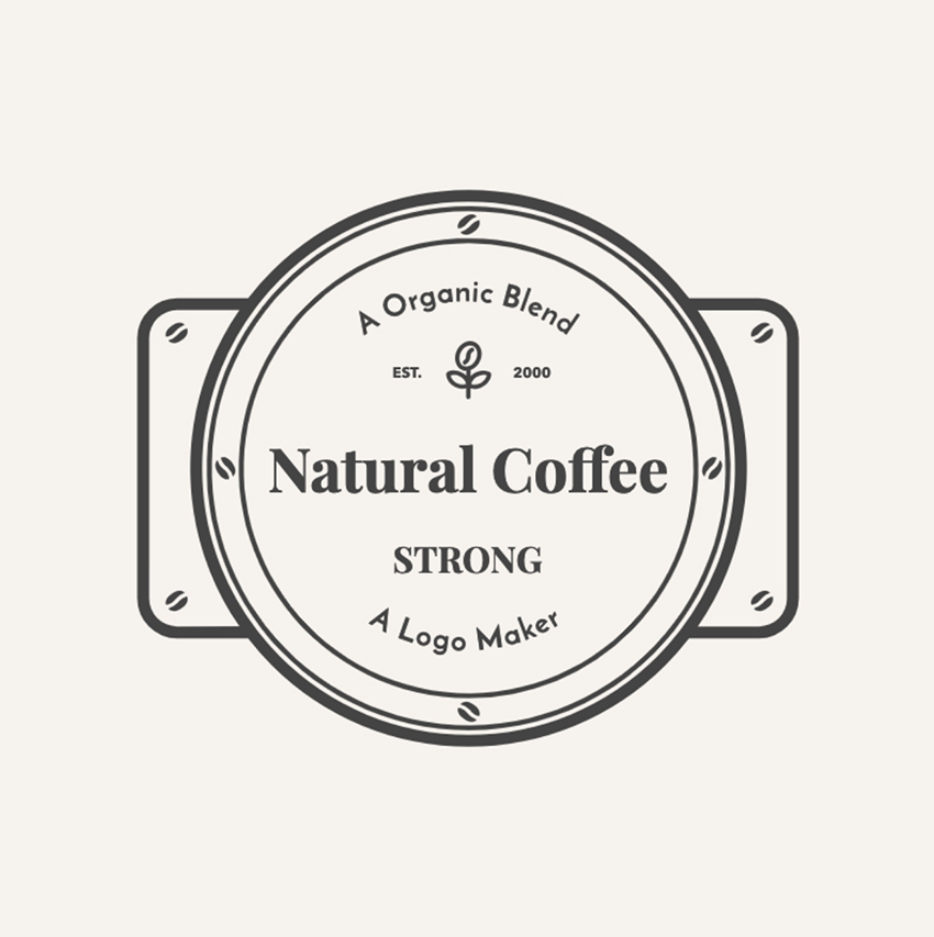 Coffee Shop Logo Maker with Metallic Badge