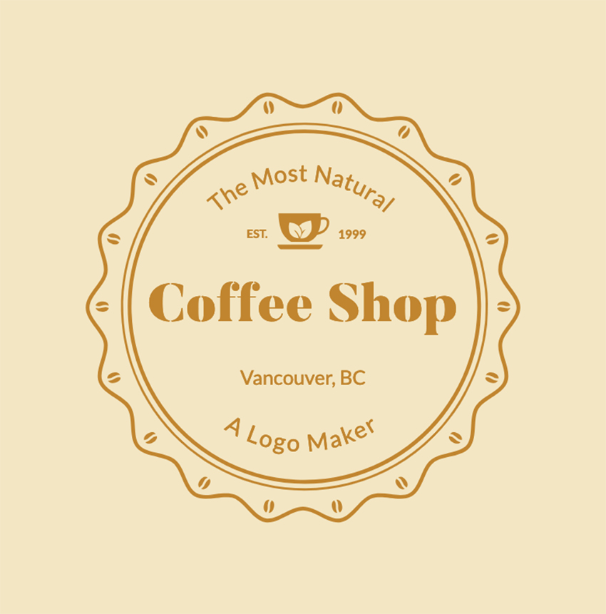 Coffee Shop Logo Maker with Classic Badge
