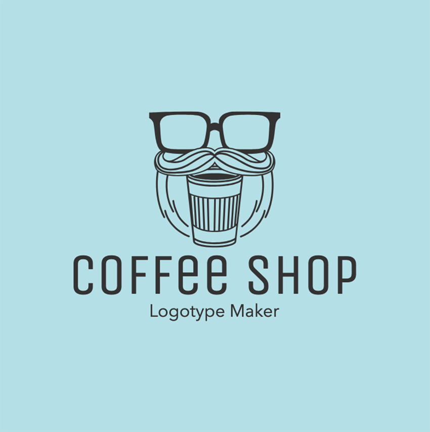 Hipster Coffee Logo Maker