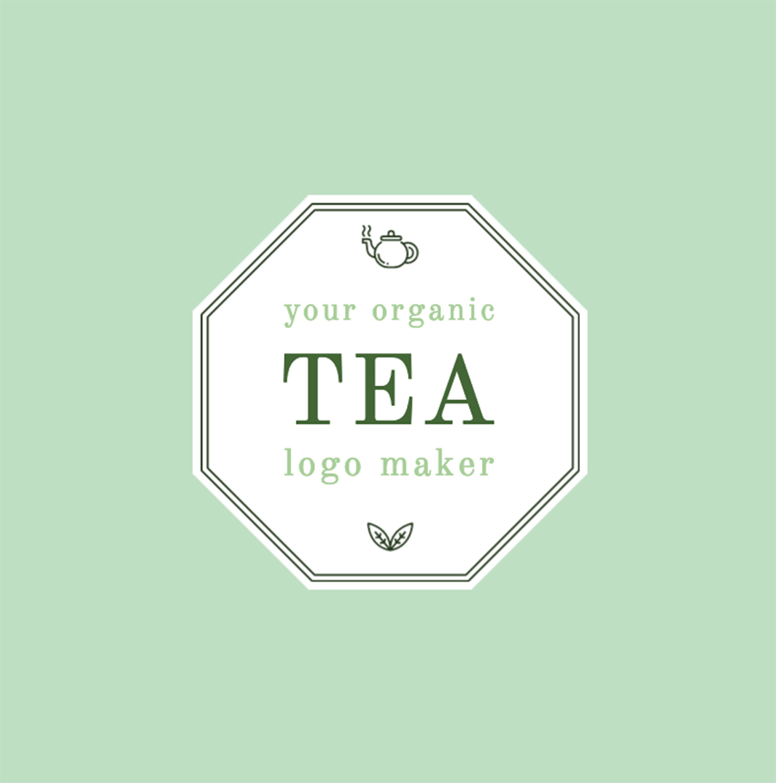 Pretty Tea Shop Logo Template