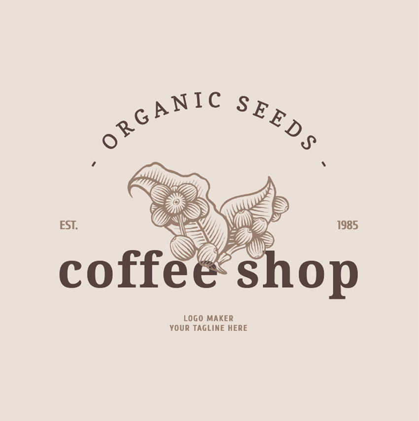 Restaurant Logo Maker for Organic Coffee