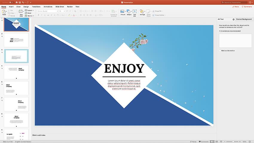 Slide Design Theme presentation styles PPT