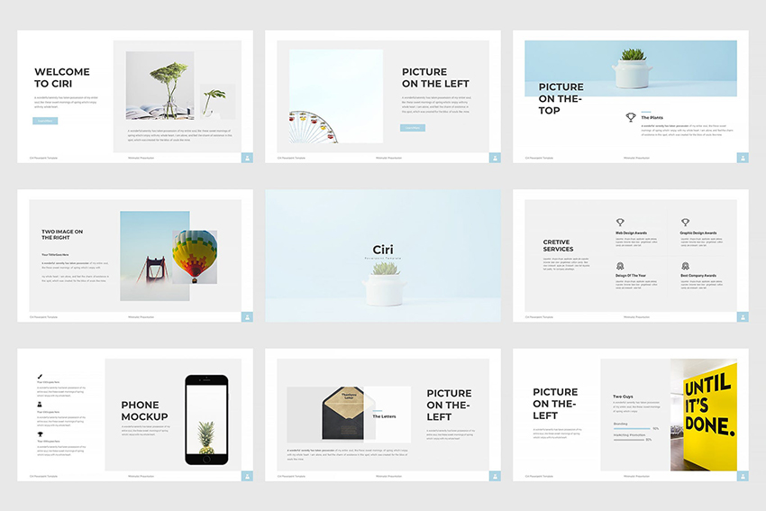 Ciri Google Slides template