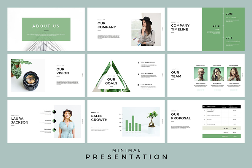 Minimal Presentation Google Slides Template