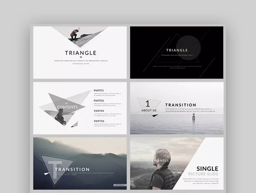 Triangle - Awesome Keynote Template