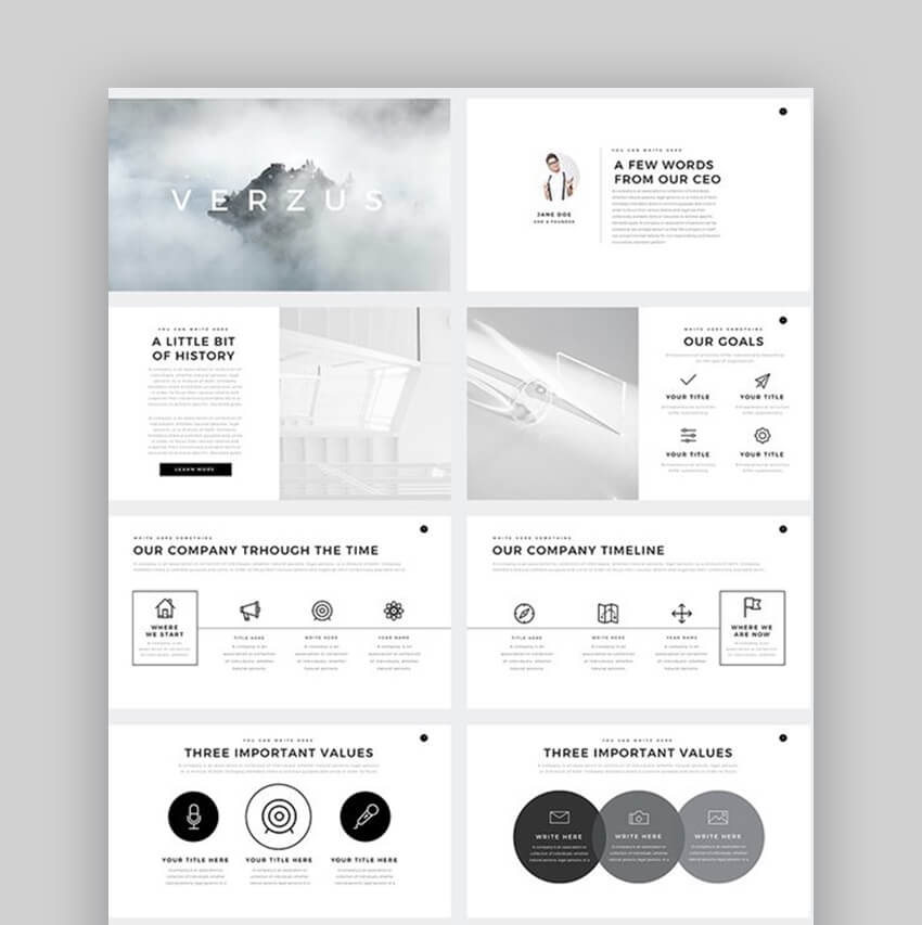 Verzus - Awesome Keynote Template