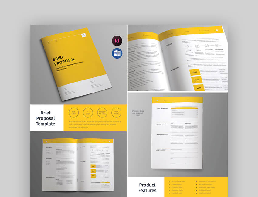 Business Brief - Creative Proposal Template Design