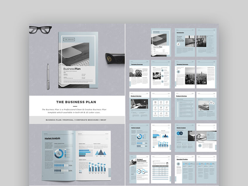 The Business Plan InDesign Proposal Template