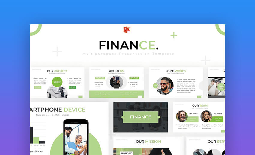Finance - Modern and Creative PowerPoint Template for Financial Presentations