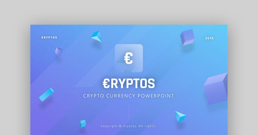 Cryptos - Business Finance Presentation Template for PowerPoint