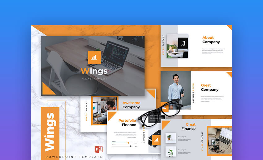 Wings - Business Finance PowerPoint Presentation