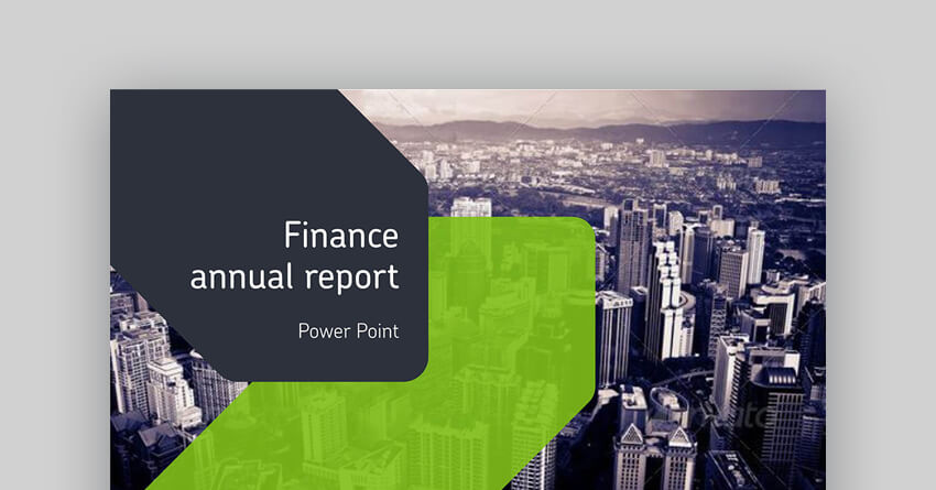 Finance Annual Report - Business Finance PowerPoint Presentation Template