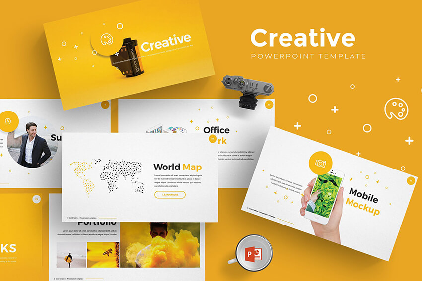 Creative PowerPoint Template on Envato Elements