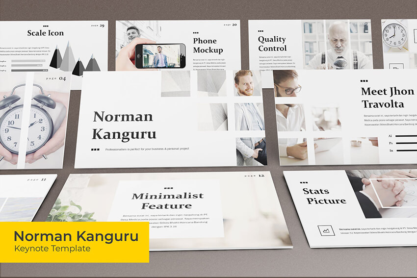 Norman Kanguru Keynote template
