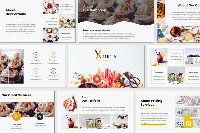 Yummy Google Slides Template