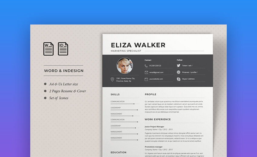 Resume Eliza - Professional Resume Template