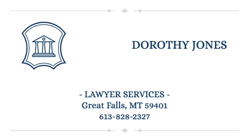 Business Card Maker for Lawyer Services