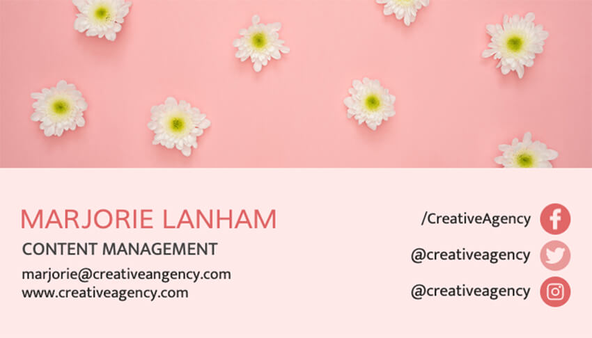 Content Manager Business Card Template