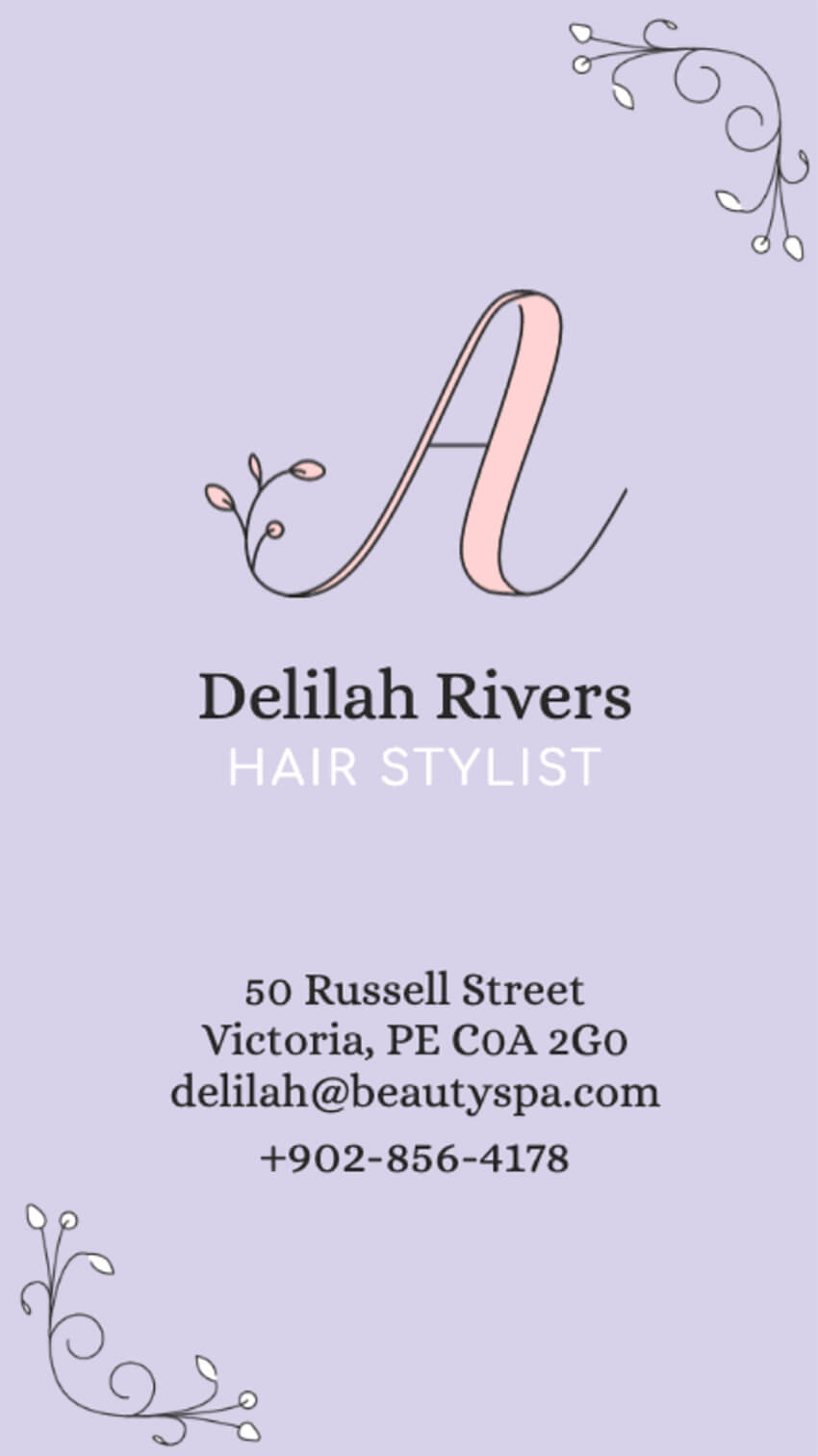 Cute Beauty Business Card Template