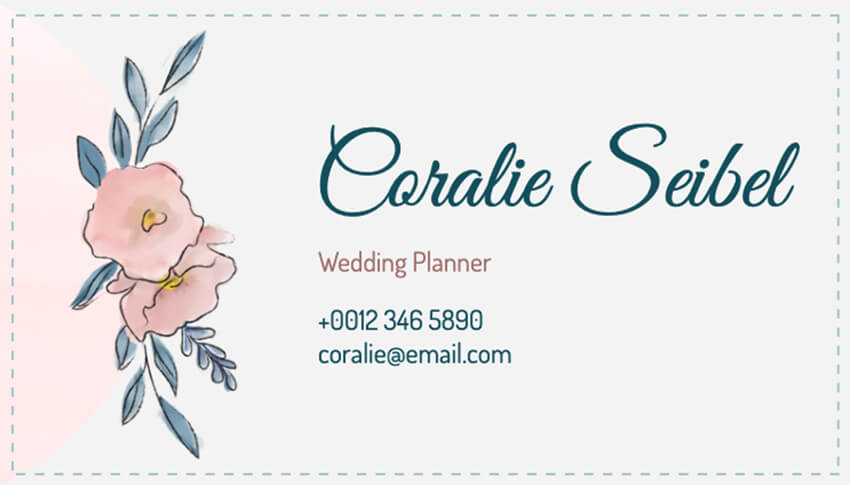 Floral Business Card Maker for Wedding Planners