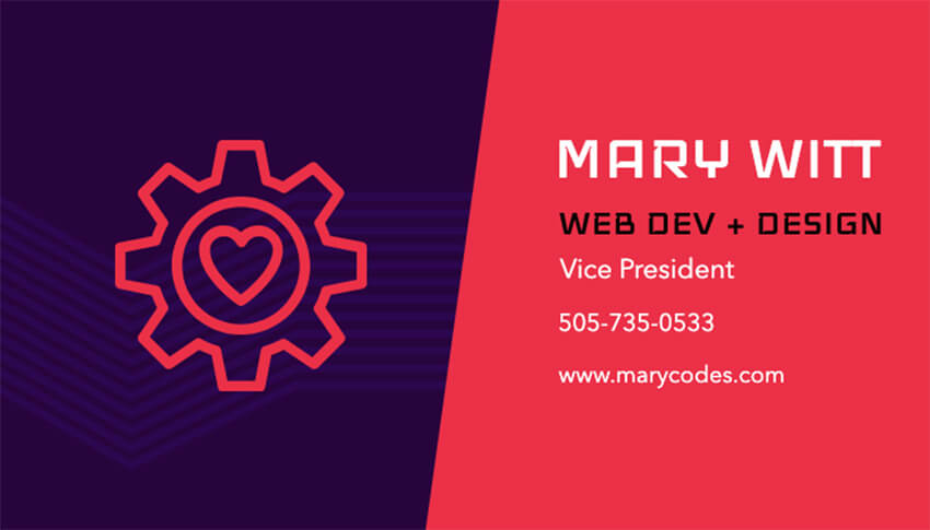 Business Card Template for Web Developers