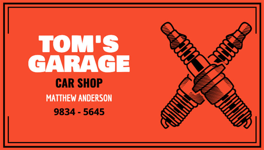 Car Shop Business Card Maker