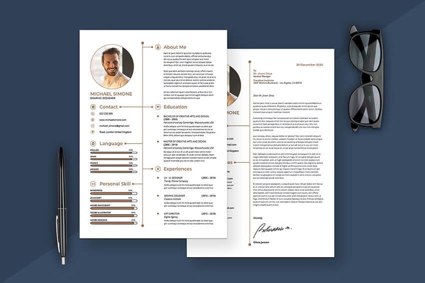 Minimalist Resume and Cover Letter from Envato Elements