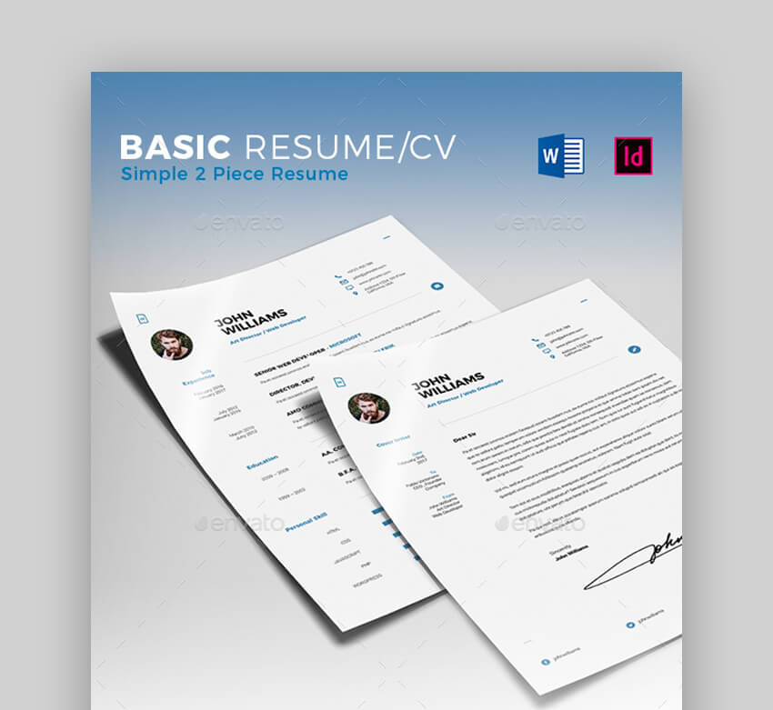 Basic Resume CV - Simple Resume Template