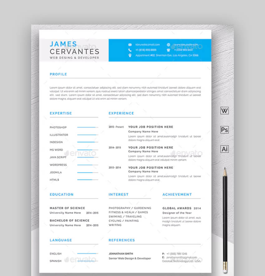 Modern Resume - Basic Resume Template