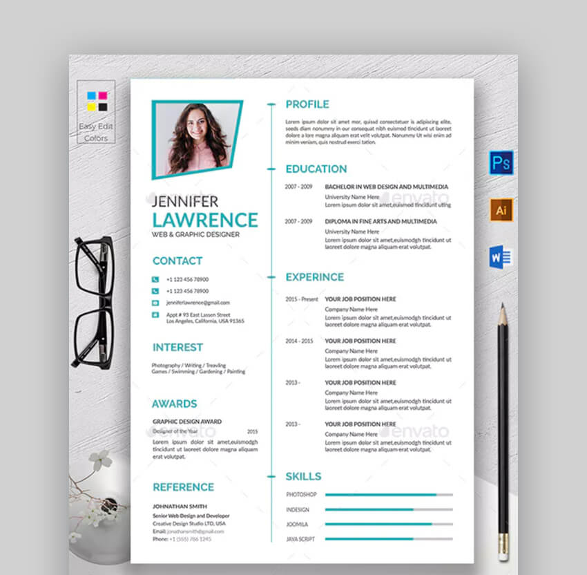 Modern Resume - Easy Resume Template